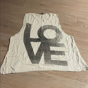 American Eagle LOVE Tank Top